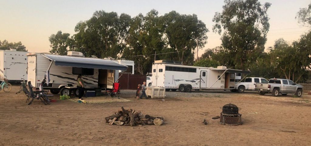 Horse Camping at D and J Stables
